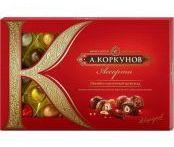 Конфеты А. Коркунов «Ассорти» темный и молочный шоколад, фундук, 256 г