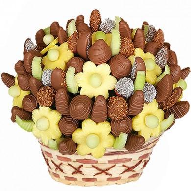 """VIP Фруктовый букет """"Шоколадный сердцеед"""""""