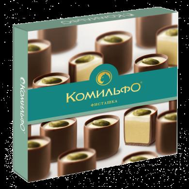 Конфеты шоколадные «КОМИЛЬФО» с фисташкой 232 гр