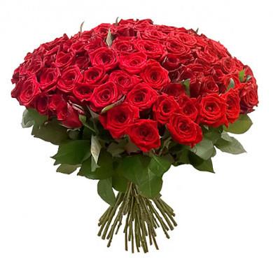 101 красная роза 50 см
