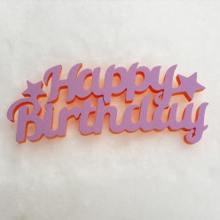 """Топпер """"Happy Birthday"""""""