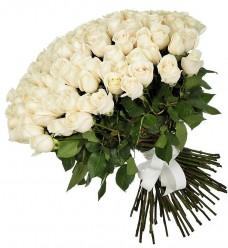 100 белых роз